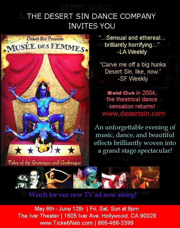 Desert Sin Quot Musee Des Femmes Quot At The Ivar In Hollywood 5 05 Preview And Ticket Info Coast To