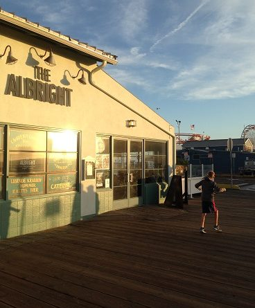 The albright restaurant features some of the best fresh for Fish restaurant santa monica
